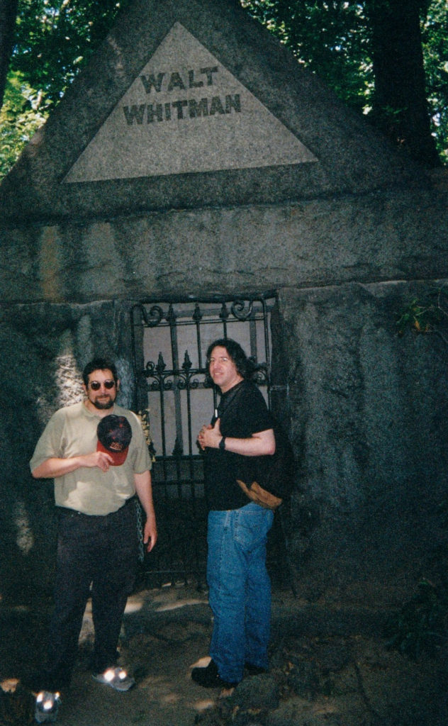 Eliot with Bob Rosenthal at Walt Whitman's grave, Camden, NJ.