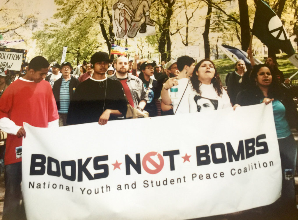 """Books Not Bombs"""