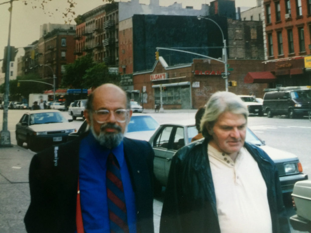 Allen Ginsberg and Gregory Corso: photo by Eliot Katz