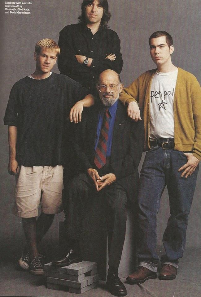 Eliot Katz, David Greenberg, Geoff Managua, Allen Ginsberg