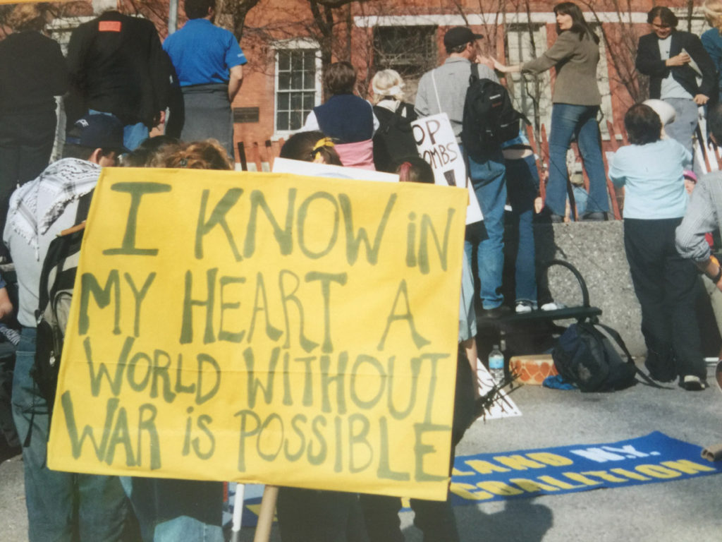 """I know in my heart a world without war is possible."""