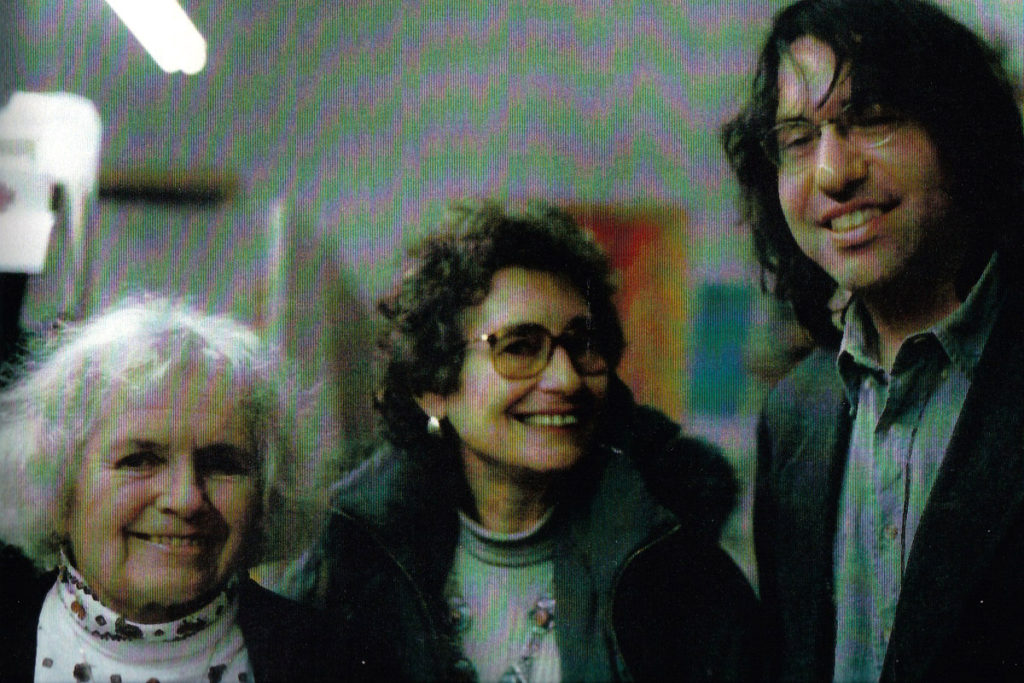 Eliot with Alicia Ostriker and Grace Paley, Learning Alliance, NYC. Photo by Greg Ruggiero.