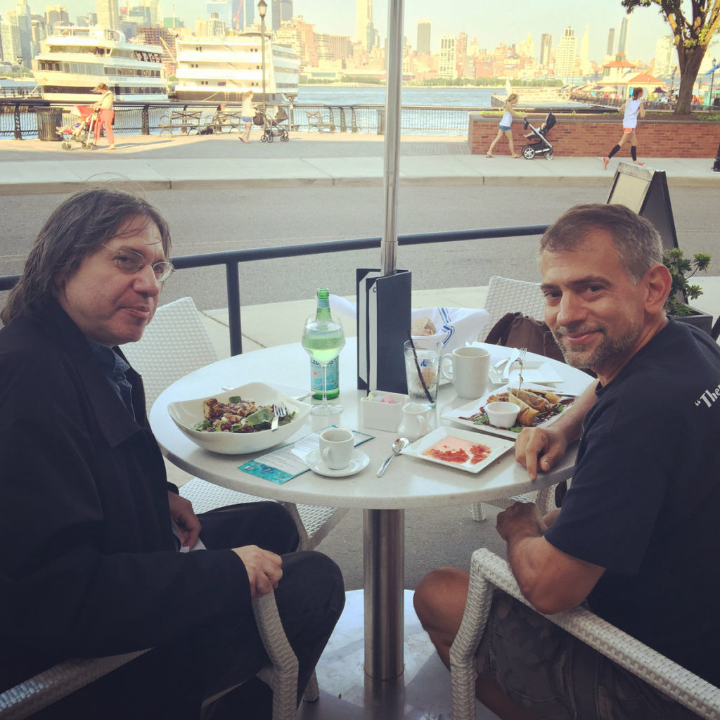 Eliot with Marc Eliot Stein in Hoboken