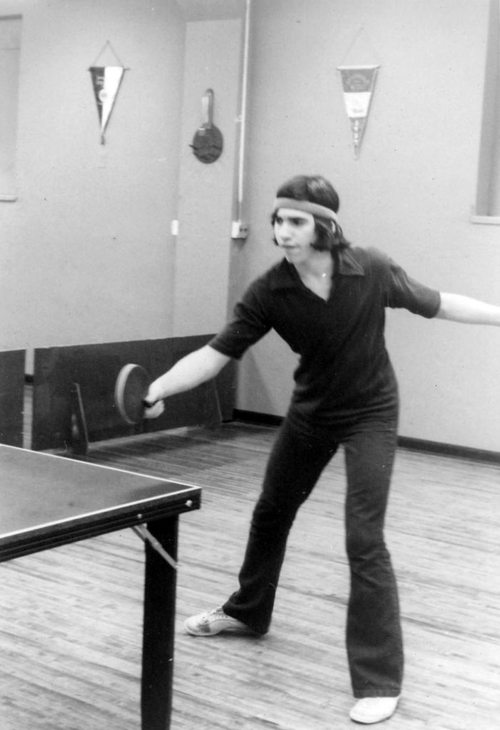 Eliot as Top Ranked Table Tennis Player in New Jersey, 1974-75.