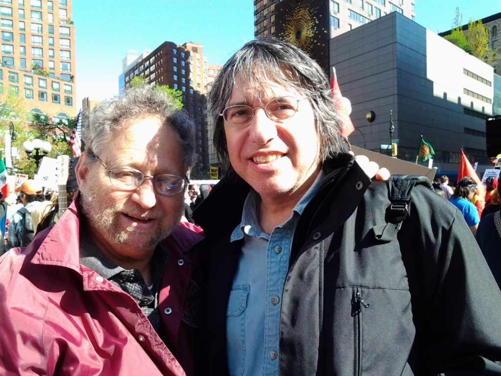 Eliot and Danny Schechter at Occupy Wall Street